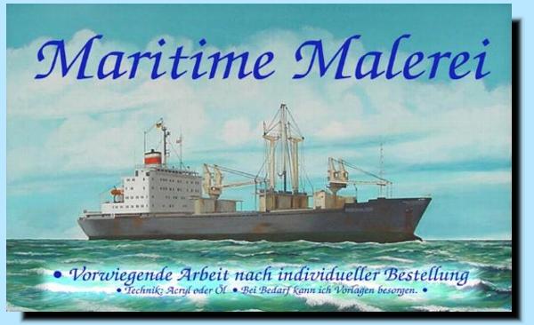 Maritime Malerei als Auftragsarbeit
