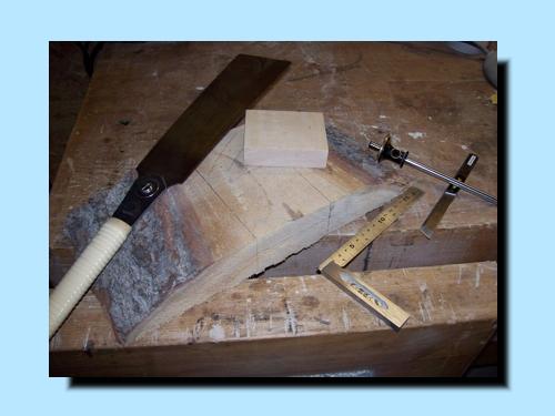 Holzstück mit Rinde
